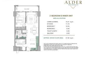 Alder Acacia 2BR-Type D